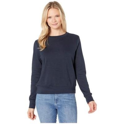 オルタナティヴ レディース パーカー・スウェット アウター Cotton Modal Interlock Pullover Crew Neck Sweatshirt