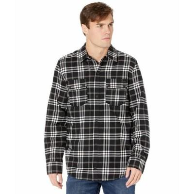 ボルコム シャツ トップス メンズ Sherpa Flannel Jacket Black