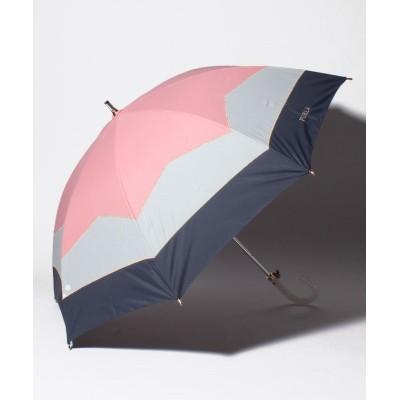 【ムーンバット】 FURLA  晴雨兼用日傘 切り継ぎカラーブロッキング レディース ピンク メーカー指定サイズ MOONBAT