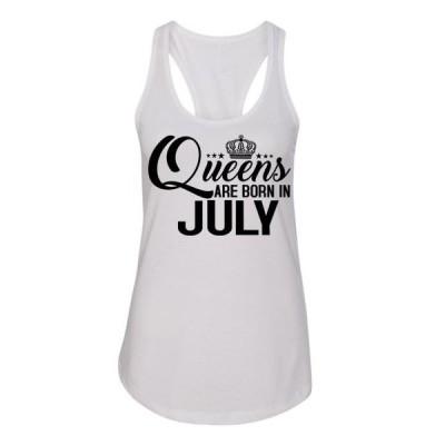 レディース 衣類 トップス Queens Are Born in July Birthday Womens Racerback Tank ブラウス&シャツ