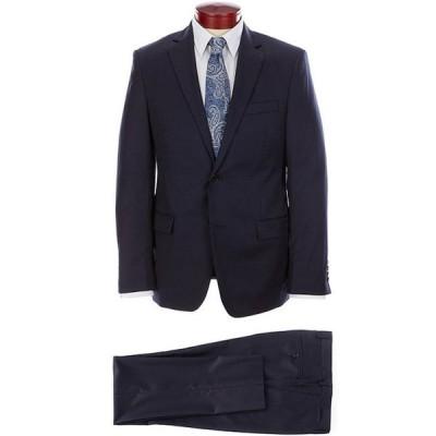 ラルフローレン メンズ ジャケット・ブルゾン アウター Slim Fit Navy Flat Front Solid Wool Suit