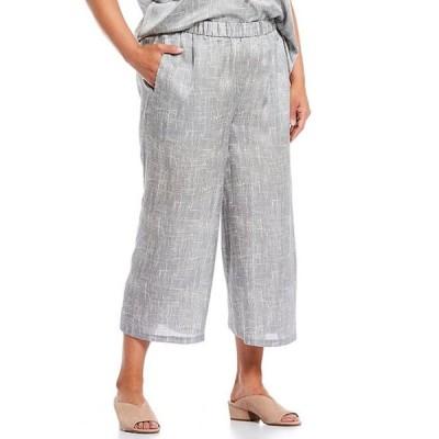 エイリーンフィッシャー レディース カジュアルパンツ ボトムス Plus Size Drift Silk Organic Cotton Culotte Cropped Pant