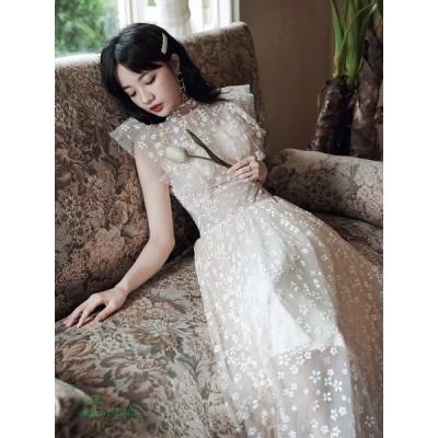パーティードレス ワンピース ウェディングドレス 結婚式 成人式 パーティー 可愛い花 花嫁ロングドレス 挙式 お呼ばれ セクシー きれいめ 演奏会誕生日