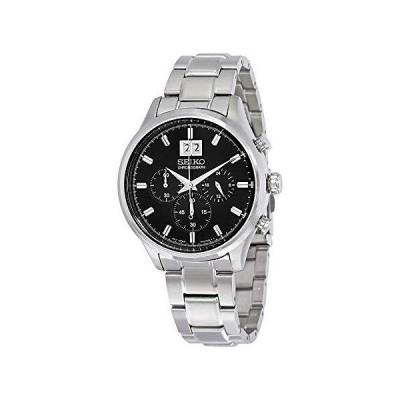 Seikoクロノグラフブラックダイヤルステンレス鋼メンズ時計spc083並行輸入品