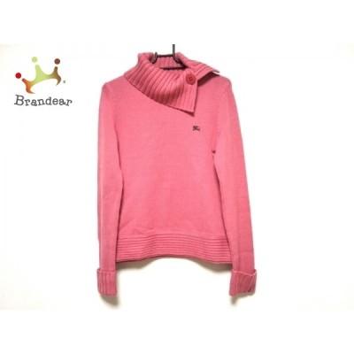 バーバリーブルーレーベル 長袖セーター サイズ38 M レディース 美品 - ピンク 新着 20201223