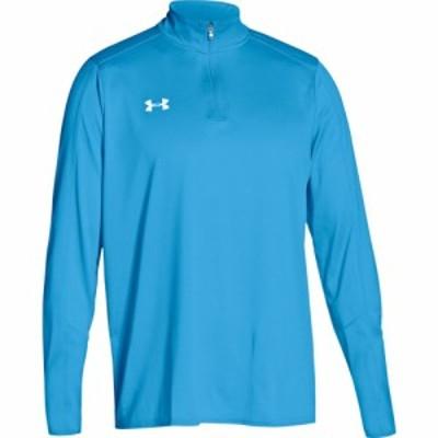 アンダーアーマー Under Armour メンズ フィットネス・トレーニング トップス Team Locker 1/4 Zip Carolina Blue/White