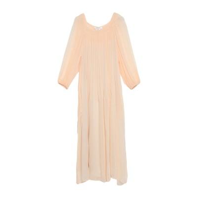 ジャッカ JUCCA 7分丈ワンピース・ドレス あんず色 40 レーヨン 100% 7分丈ワンピース・ドレス