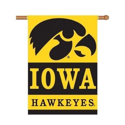 Iowa Hawkeyes Banner 2 Sided College Flag