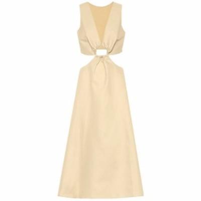 カルト ガイア Cult Gaia レディース ワンピース ワンピース・ドレス Cybele linen and cotton midi dress Ash