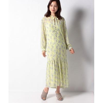 【ベイクルーズグループアウトレット】 Flower Tiered Dress レディース イエロー フリー BAYCREW'S GROUP OUTLET