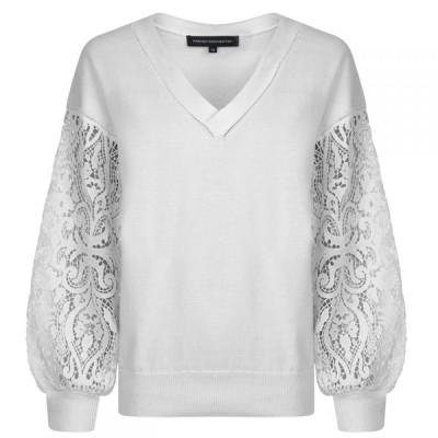フレンチコネクション French Connection レディース ニット・セーター トップス Knitted Jumper White