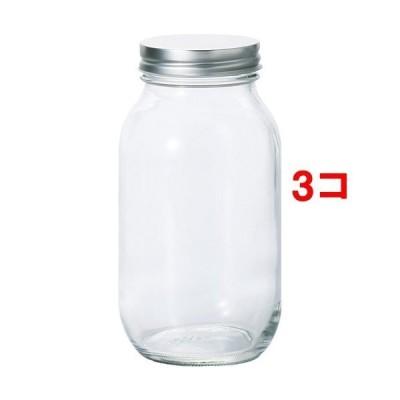保存瓶 銀キャップ 925ml 日本製 ( 1コ入*3コセット )