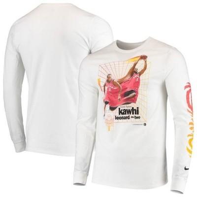 ナイキ メンズ Tシャツ トップス Kawhi Leonard Toronto Raptors Nike Time Warp Long Sleeve T-Shirt
