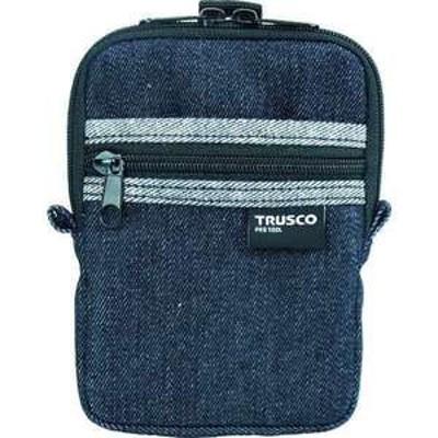 TRUSCO デニムコンパクトケース 2ポケット ブラック(品番:TDC-K102)『7689969』