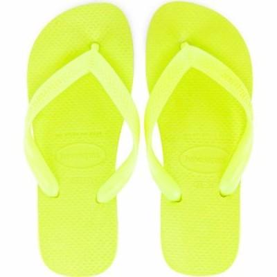 ハワイアナス Havaianas レディース ビーチサンダル シューズ・靴 Neon Brights Top Flip Flop Galactic Green