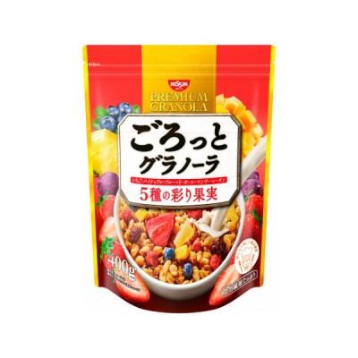 日清シスコ ごろっとグラノーラ 5種の彩り果実 400g 12袋