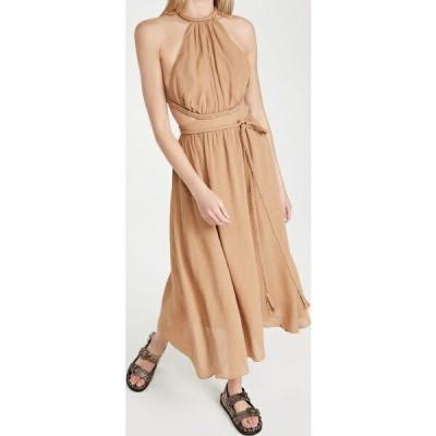 (取寄)アリス アンド オリビア レディース フェイス ブレイデッド カットアウト ミディ ドレス alice + olivia Women's Faith Braided Cutout Midi Dress Tan