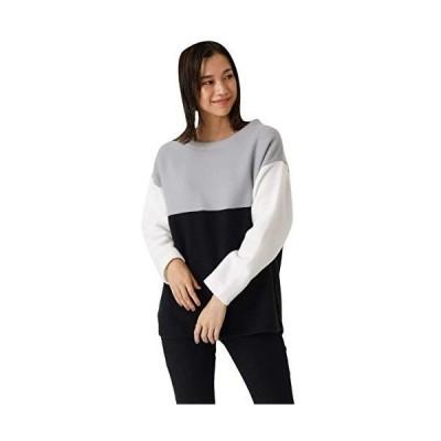 アズールバイマウジー tシャツ BI-COLOR PANEL TOP 250DSH80-020I レディース S グレー