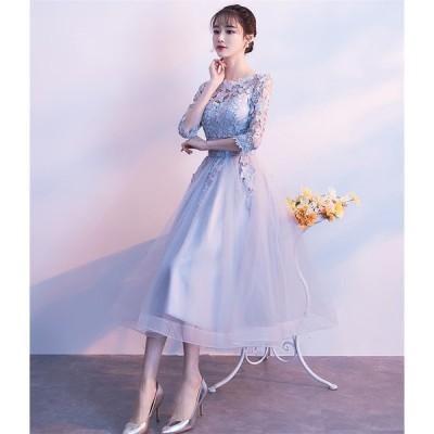 ショートドレス パーティードレス ウェディングドレス カラードレス 10代 20代 30代 ワンピース おしゃれ お呼ばれ 可愛いドレス ワンピ ミニドレス[グレー]
