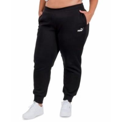 プーマ レディース カジュアルパンツ ボトムス Solid Plus Size Fleece Jogger Pants Cotton Black