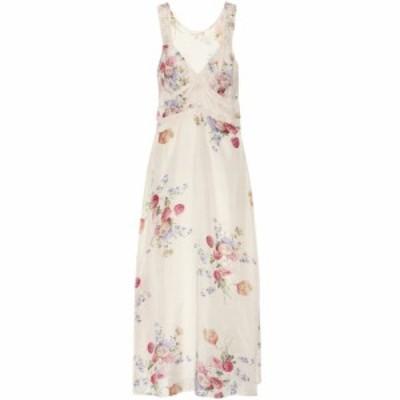 ラブシャックファンシー LoveShackFancy レディース ワンピース ミドル丈 ワンピース・ドレス Sabina floral silk-satin midi dress Natu