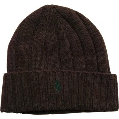 ポロ ラルフローレン ニットキャップ ワンポイント ニット帽 ブラウン メンズ Polo Ralph Lauren 179