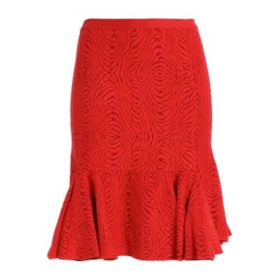 ランバン LANVIN ひざ丈スカート レッド XS レーヨン 70% / ナイロン 25% / ポリウレタン 5% ひざ丈スカート