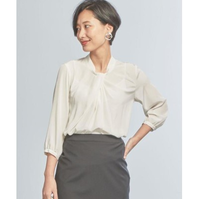 green label relaxing / 【WORK TRIP OUTFITS】★WTO D ツイストタック ブラウス WOMEN トップス > シャツ/ブラウス