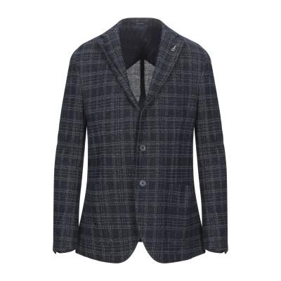 パオローニ PAOLONI テーラードジャケット ダークブルー 56 コットン 80% / リネン 20% テーラードジャケット