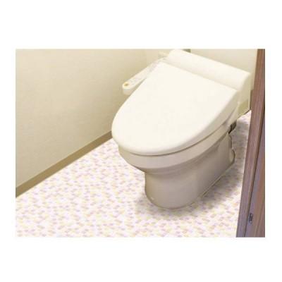 明和グラビア 防水模様替えシート トイレ床全面用 ライトオレンジ 90cm×200cm BKTT-90200 213128