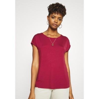 ヴェロモーダ Tシャツ レディース トップス VMAVA PLAIN - Basic T-shirt - tibetan red