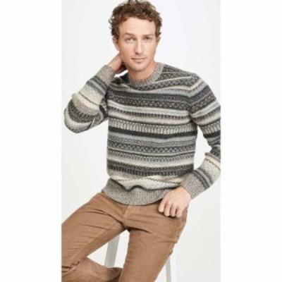 ヴィンス Vince メンズ ニット・セーター トップス Fairisle Long Sleeve Sweater Woodland