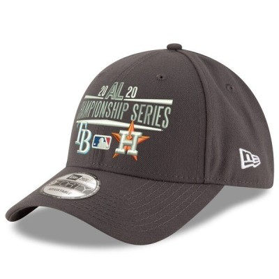 タンパベイ・レイズ アストロズ キャップ 帽子 MLB ニューエラ New Era 9FORTY グラファイト 2020 アメリカンリーグ優勝決定シリーズ MLB2020PS