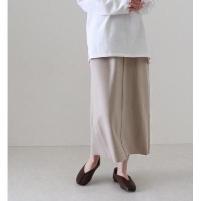 【チーク/Cheek】 配色ステッチロングタイトスカート