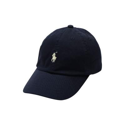 POLO RALPH LAUREN 帽子 ダークブルー one size コットン 100% 帽子