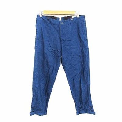 【中古】ビームスボーイ BEAMS BOY パンツ テーパード ボタンフライ 1 紺 ネイビー /AAM30 レディース