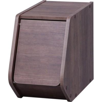 アイリスオーヤマ スタックボックス 扉付き ブラウン STB−200D