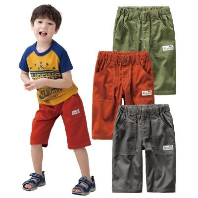 6分丈ツイルパンツ3枚組(男の子 子供服。ジュニア服) パンツ, Kids' Pants