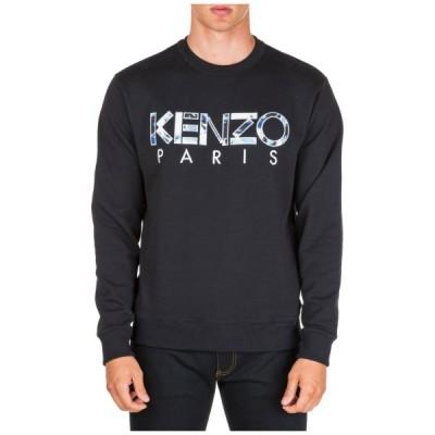 メンズ スウェット パーカー ケンゾー KENZO MEN'S SWEATSHIRT SWEAT NEW KENZO WORLD BLACK FC0