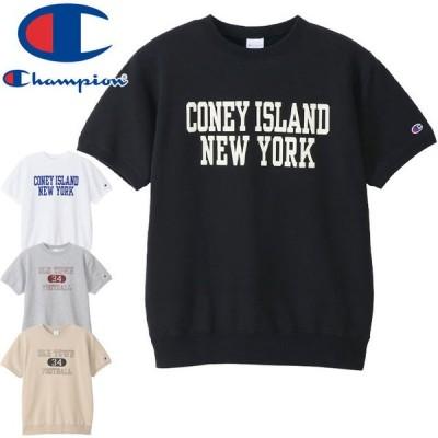 チャンピオン Champion メンズ ショートスリーブクルーネックスウェットシャツ C3-T005 Tシャツ 半袖 ティーシャツ 丸首 裏毛 トップス カットソー ウェア