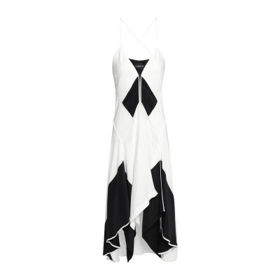 KITX 7分丈ワンピース・ドレス ホワイト 6 シルク 100% 7分丈ワンピース・ドレス