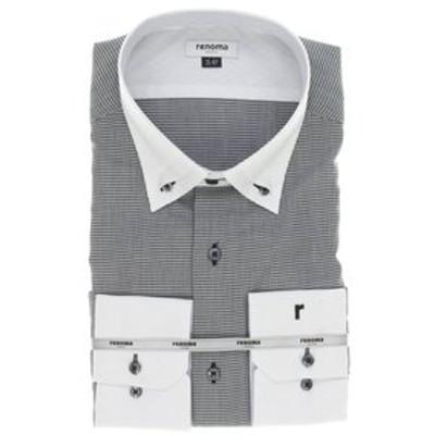 【大きいサイズ】レノマオム/renoma HOMME  形態安定3枚衿スナップダウン クレリック長袖ビジネスドレスシャツ/ワイシャツ
