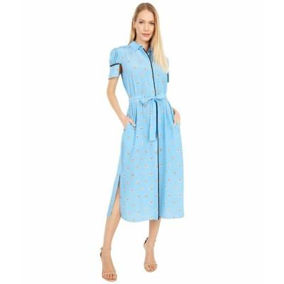 ジェイソンウー ワンピース トップス レディース Short Sleeve Printed Shirtdress Powder Blue/Abalone