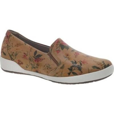 ダンスコ レディース サンダル シューズ Odina Slip-on Tan Floral Leather
