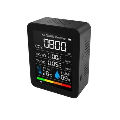 「2021新入荷」二酸化炭素濃度計 CO2センサー CO2マネージャー co2濃度計 二酸化炭素計測器 空気質検知器 温度 湿度 USB充電 三密 換気 濃度測定
