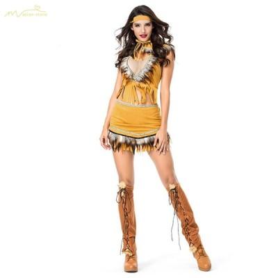 万聖節 ハロウィン Halloween 衣装 仮装 コスプレ 大人用 キャラクター cosplay服 コスチューム 大きいサイズ 舞台衣装 スカート イベント インディアン