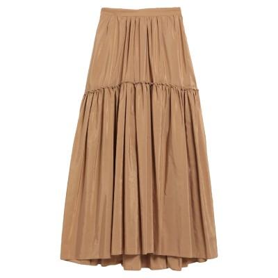 バランタイン BALLANTYNE ロングスカート キャメル 38 シルク 52% / コットン 48% ロングスカート