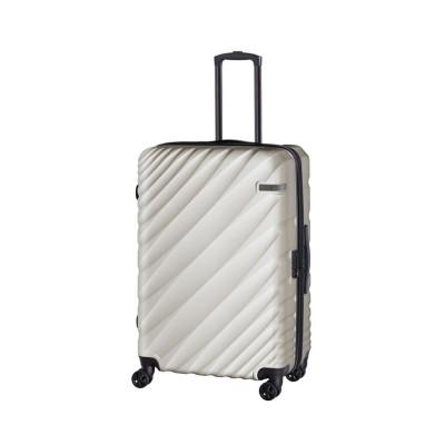 (ACE DESIGNED BY ACE/エースデザインドバイエース)エース オーバル スーツケース Lサイズ 90L/111L 拡張 軽量 大型 大容量 ACE 06423/ユニセックス ライトグレー