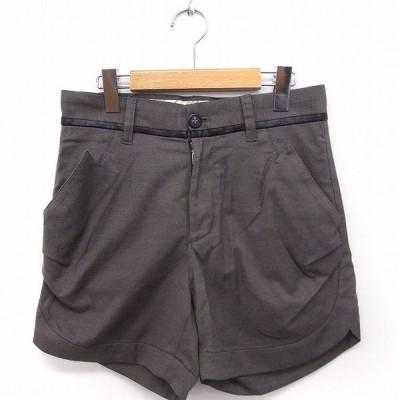 【中古】ツモリチサト TSUMORI CHISATO パンツ ショート ポケット ジップ 1 グレー 灰 /FT44 レディース 【ベクトル 古着】