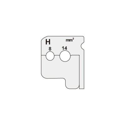 ジェフコム デンサン ワイヤーストリッパー用替刃 DIV-814KP